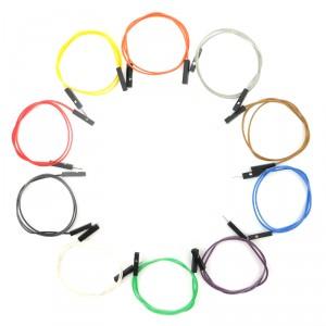 Set de cables Macho / Hembra 30cm (100 Unid.)
