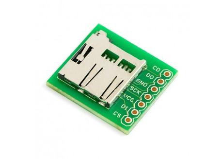 Placa prototipo con zócalo para microSD Transflash