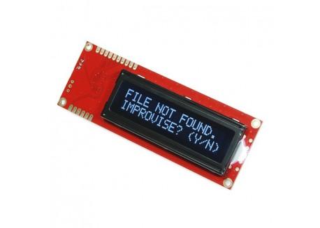 Pantalla SERIAL LCD 16x2 - Blanco sobre negro