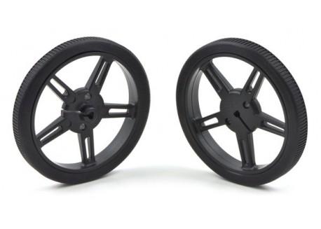 Pareja de ruedas 60x8mm - Negro