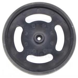 Rueda de plástico negro para servomotor